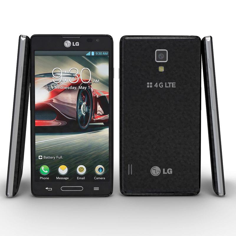 3d lg optimus f7 black model