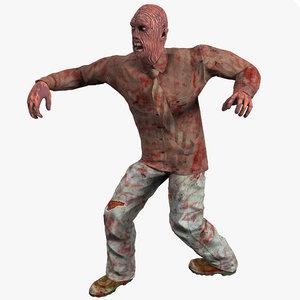 zombie 2 pose 3d model