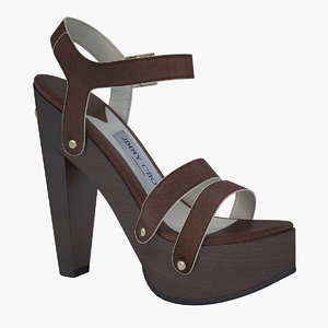 3d model - plateau sandals jimmy