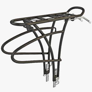 bike rear rack 3d c4d