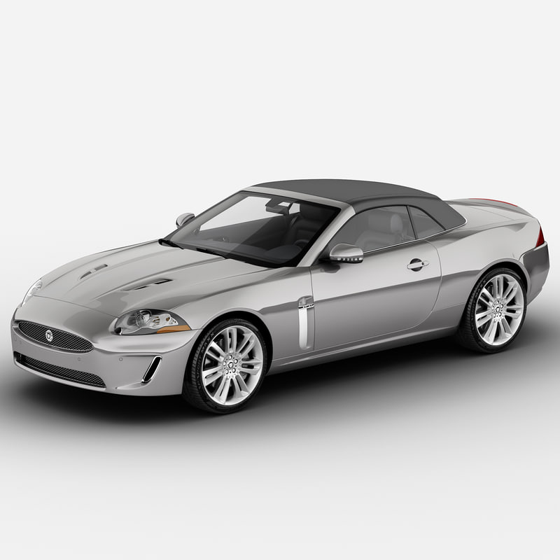 xkr convertible 2011 3d model