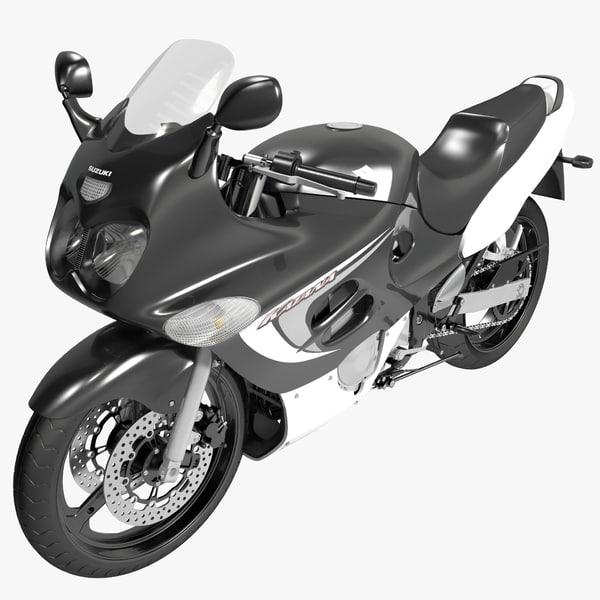 3d model suzuki katana gsx600f 2007