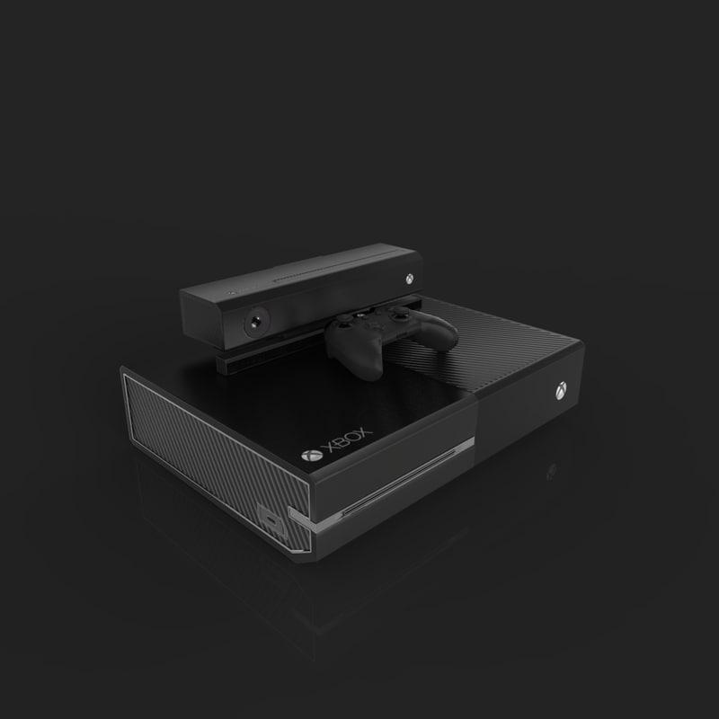 3d xbox console microsoft model