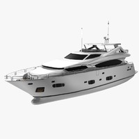 sunseeker yacht luxurious 3d max