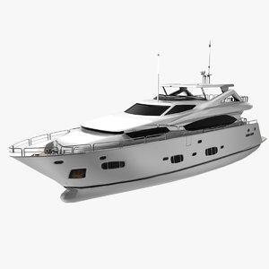 sunseeker yacht luxurious 3d max