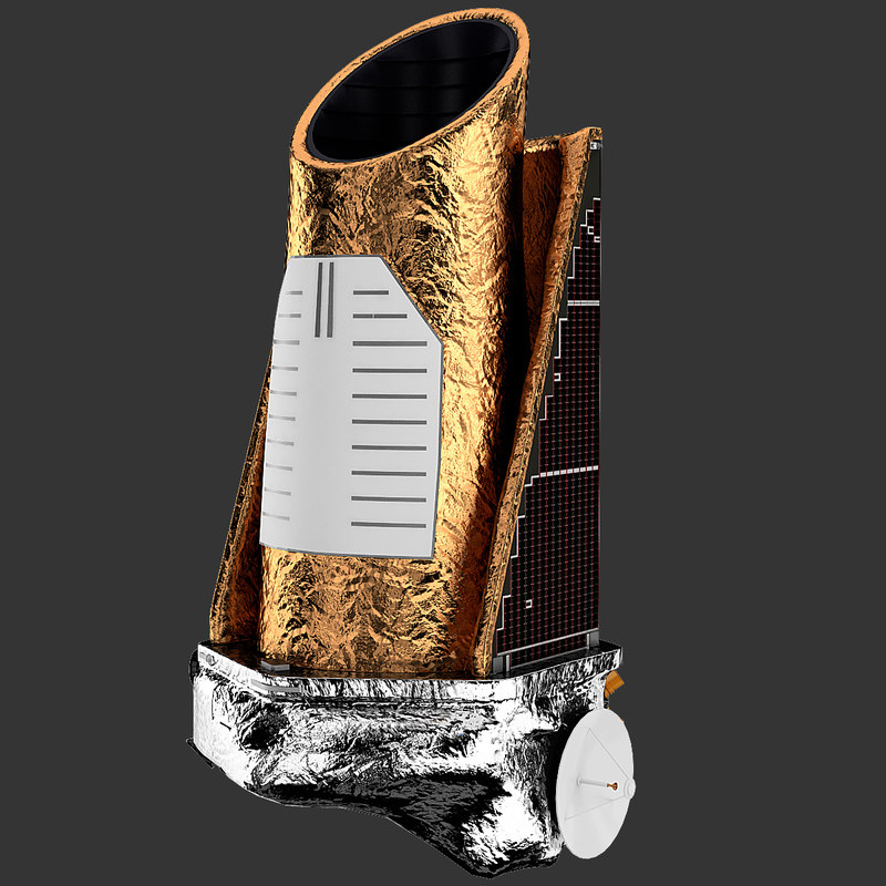 kepler telescope 3d model