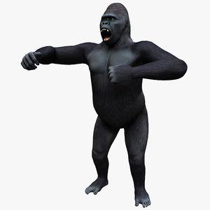 gorilla pose 1 3ds