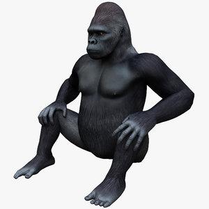 gorilla pose 3 3d max