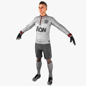3ds soccer goalie