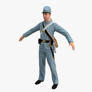 3d confederate soldier