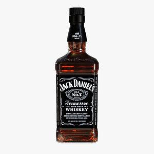 3d jack daniel s bottle