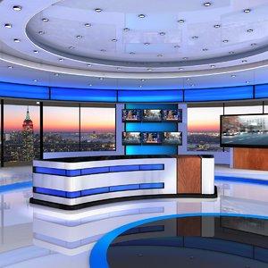 american news studio 3d max