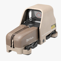 eotech 553 holographic weapon 3d model