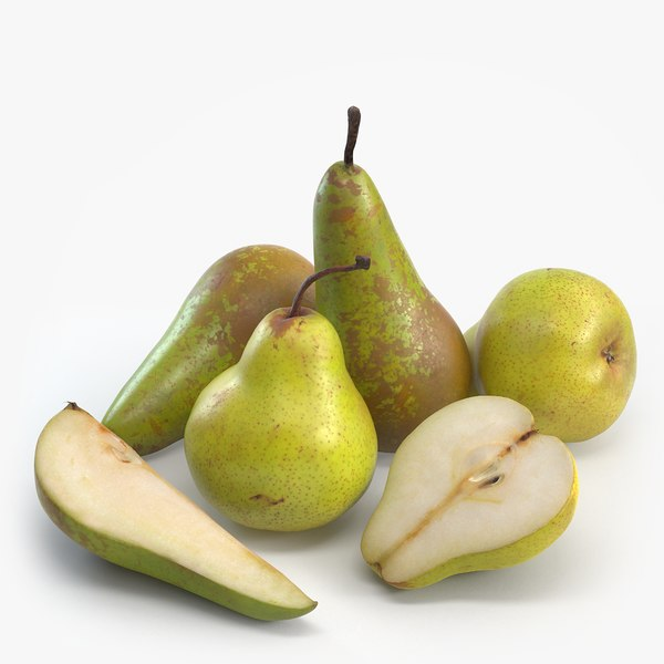 packham conference pears 3d model
