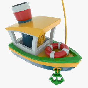 3d model toy ship