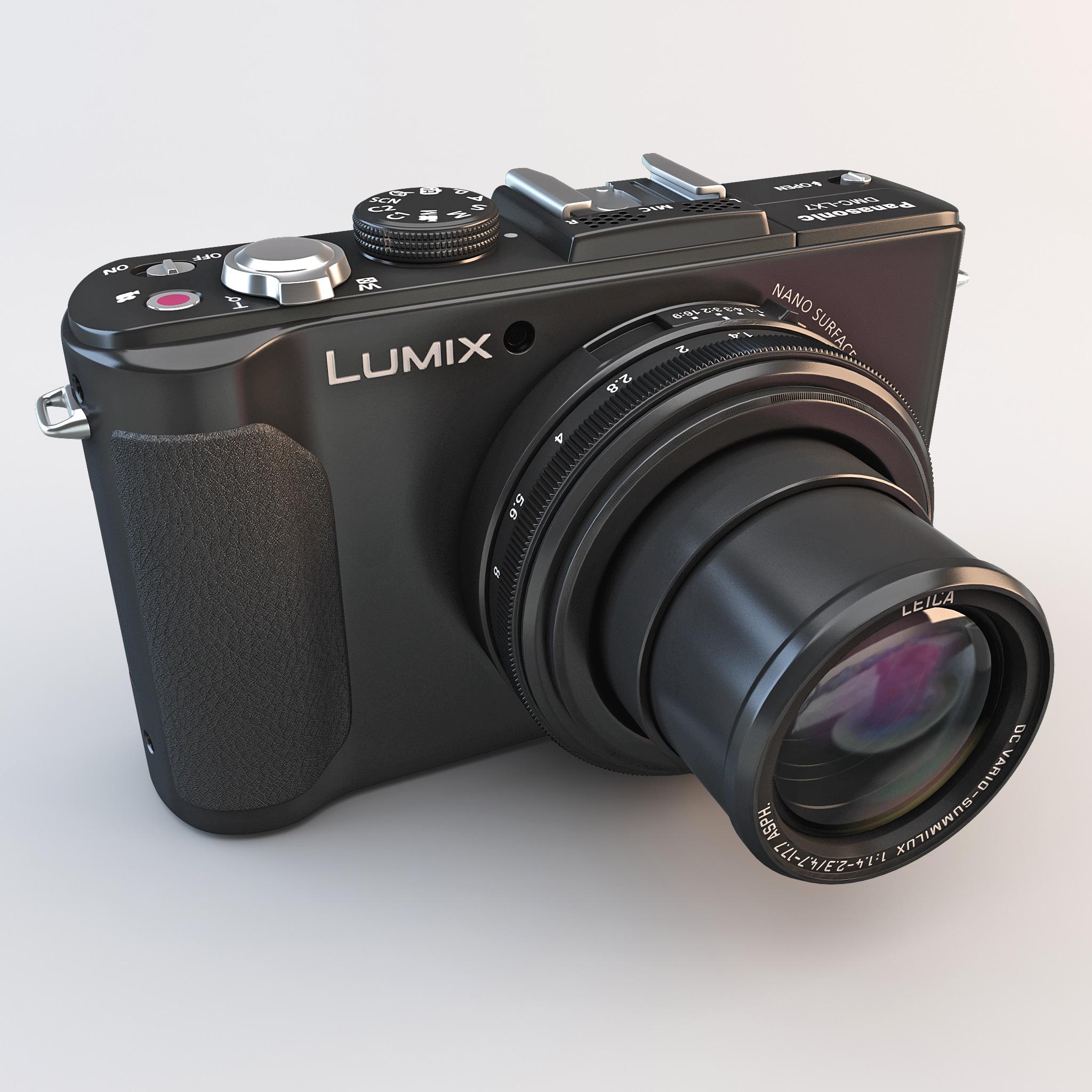 3ds max panasonic lumix dmc-lx7k