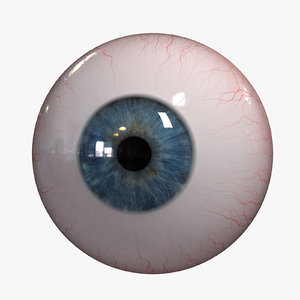 realistic huan eye 3d obj
