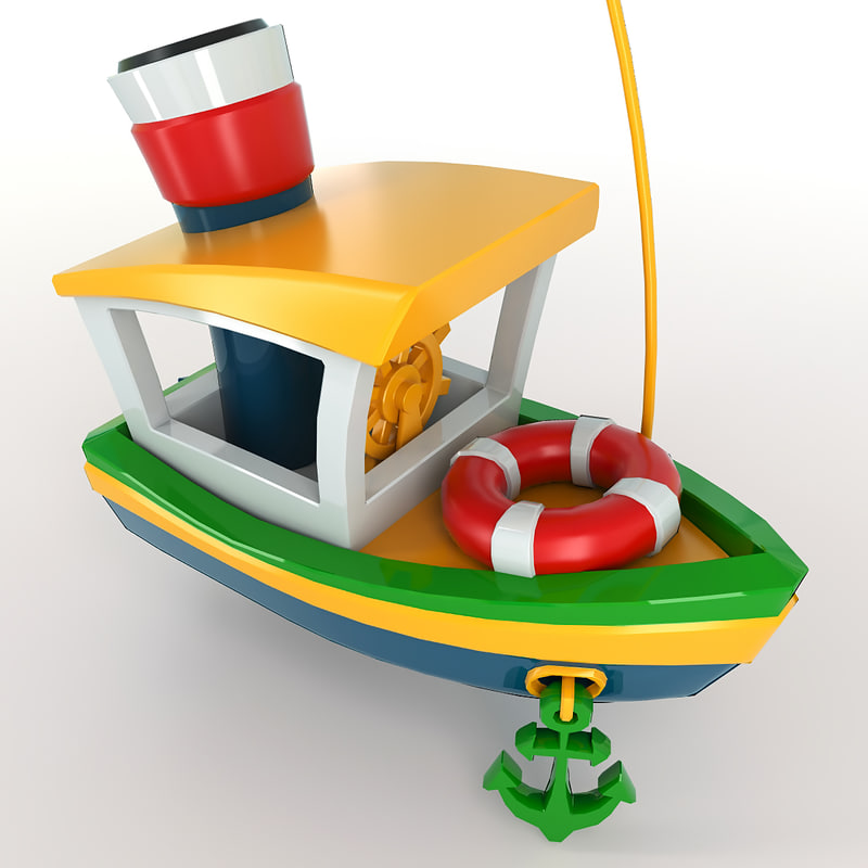 3d model toy ship