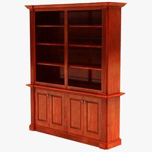 3dsmax architectural bookcase