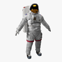 3d space astronaut science model