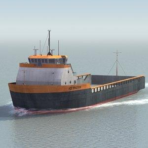 3d model platform supply vessel