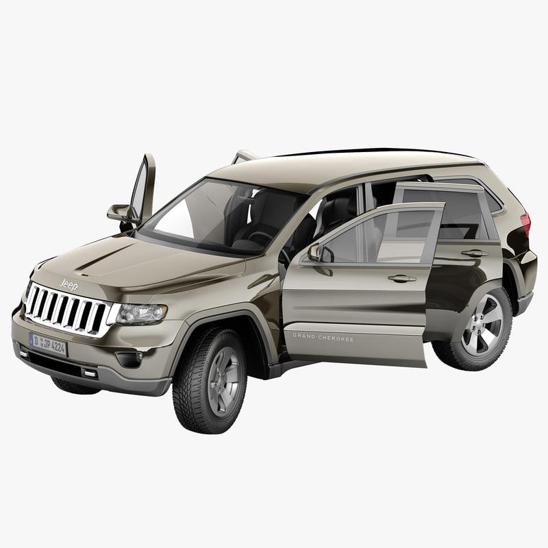3d jeep grand cherokee 2012