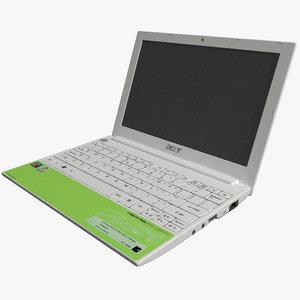 laptop acer happy 3d model