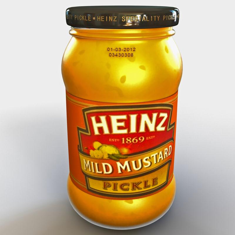 mustard heinz bottle 4 3d lwo