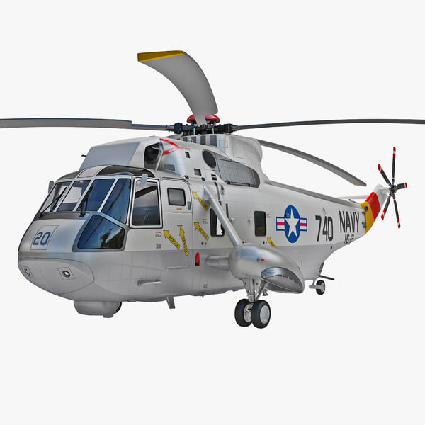 3d model sh-3 sea king helicopter
