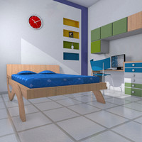 3d bed room