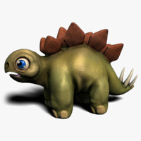 3ds max stegosaurus hatchling character