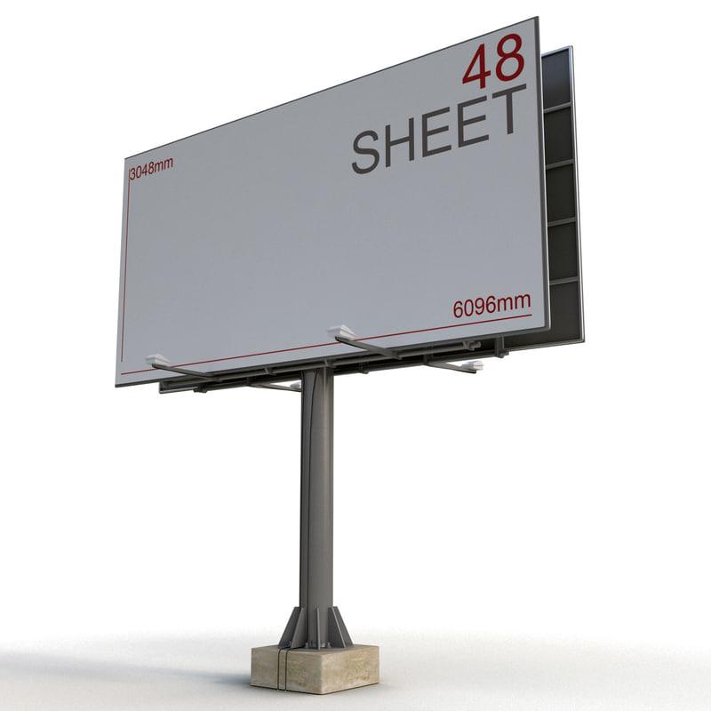 3d model billboard 48 sheet board