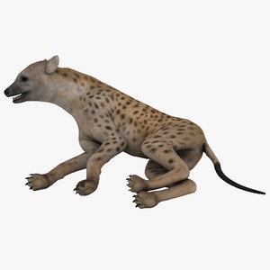3d model hyena pose 4