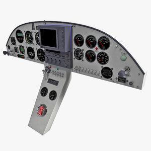 aircraft instrument panel 3d model