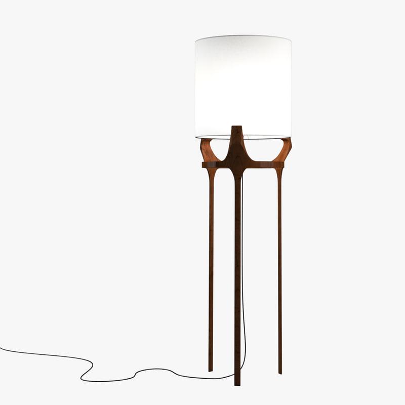 caste flint lamp 3d max