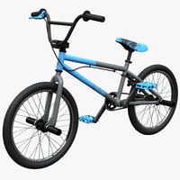 mountain bike bmx mongoose 3d model