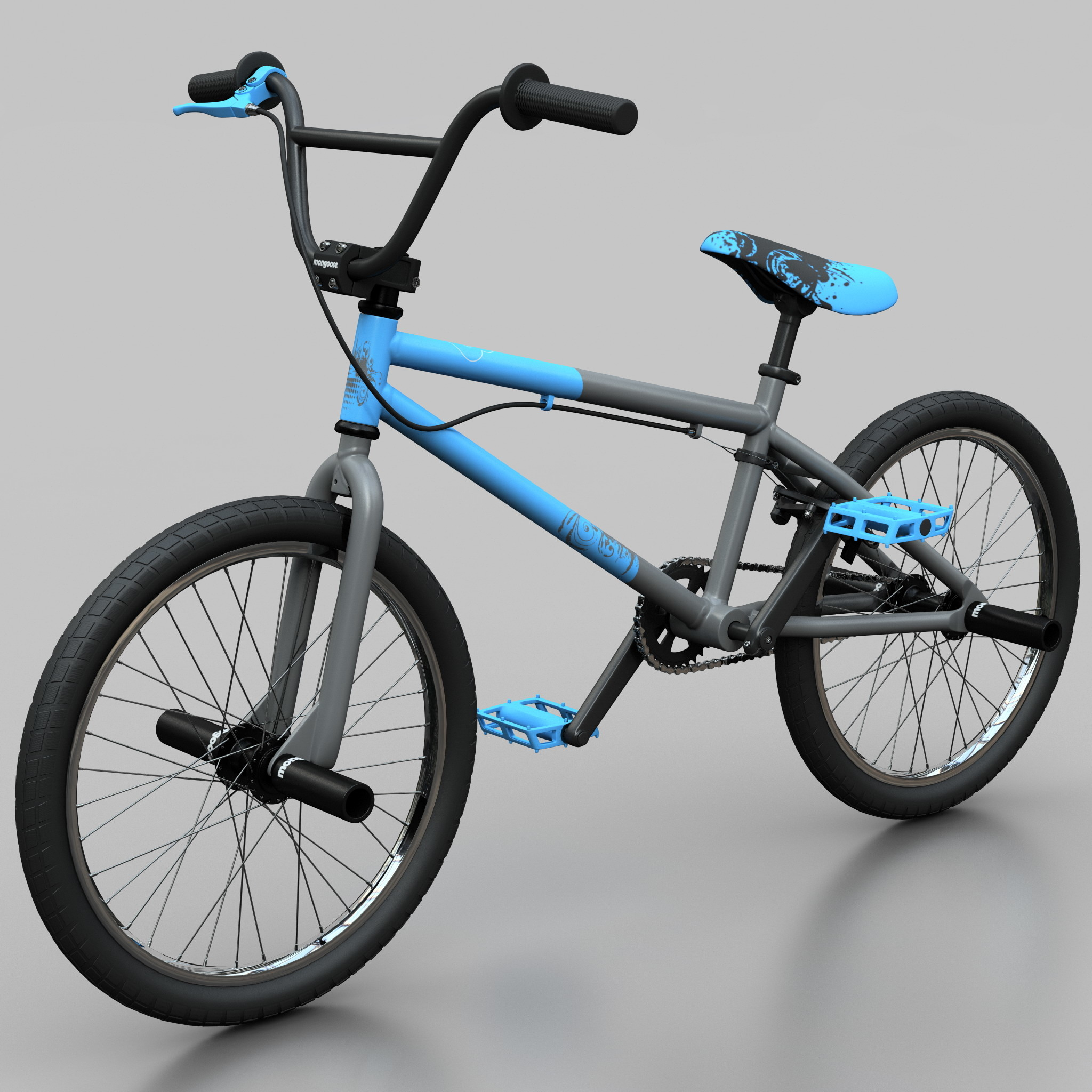 mountain bike bmx mongoose 3d model
