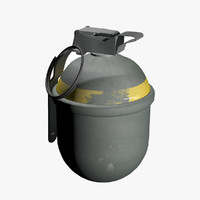 3d model of fragmentation hand grenade