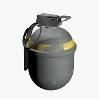 3d model of fragmentation hand grenade