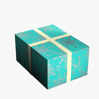 3d christmas present model