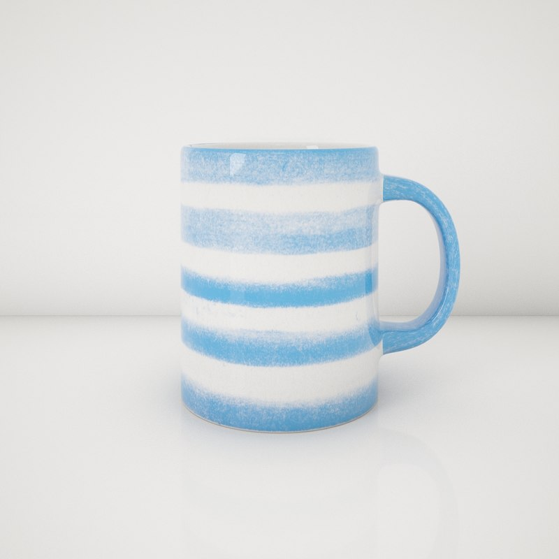 3d model hand painted mugs 2