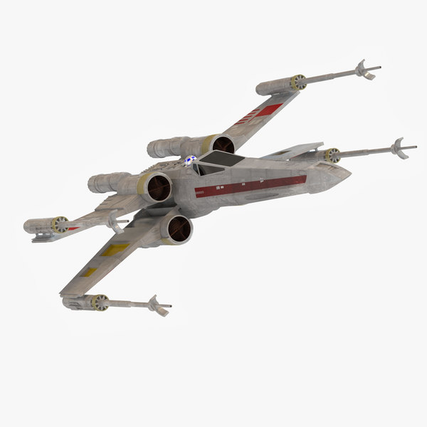 x-wing arigher 3d max