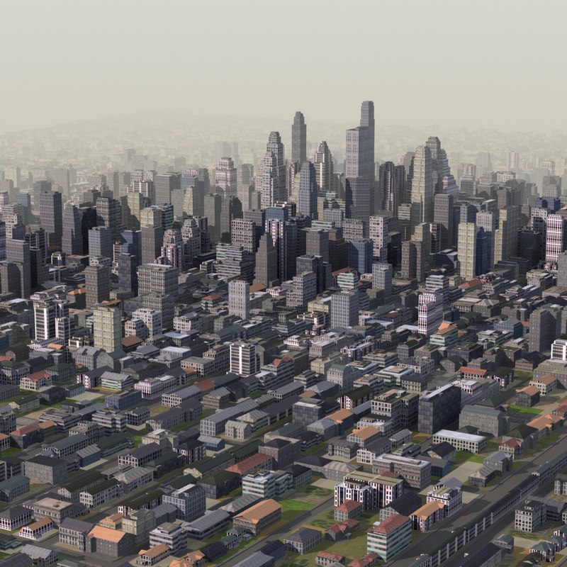 giant cityscape 3d model
