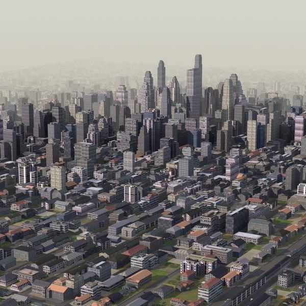 giant cityscape 3d model
