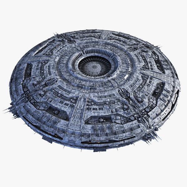 3d ufo mothership