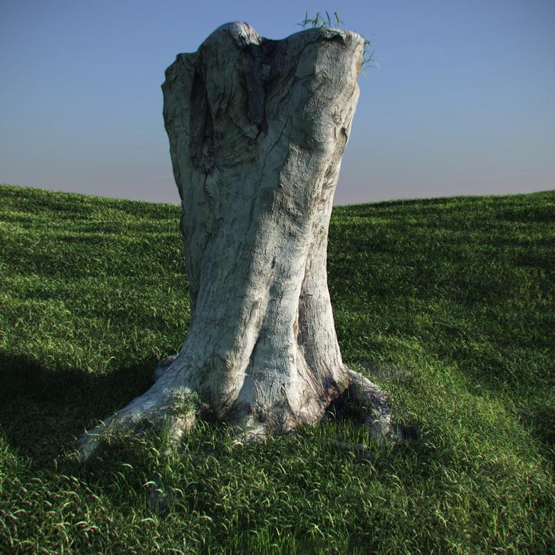 3d paperbark tree
