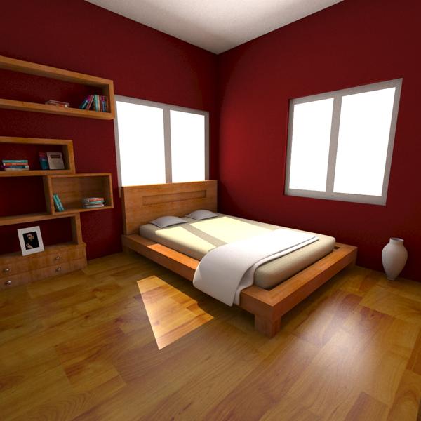 max bed room wood