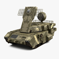 military radar vehicle 3ds