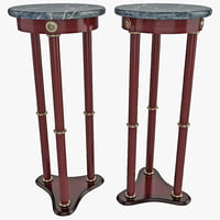 3d model of coaster plant stand table