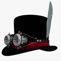 Cylinder_Hat with Goggles